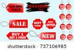 tags for online shopping... | Shutterstock .eps vector #737106985