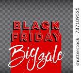 abstract vector black friday... | Shutterstock .eps vector #737109535