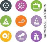 origami corner style icon set   ... | Shutterstock .eps vector #737110375