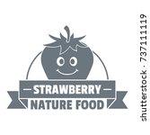nature food logo. vintage... | Shutterstock .eps vector #737111119