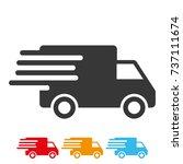 delivery service car icon....