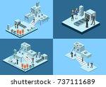 isometric 3d vector... | Shutterstock .eps vector #737111689