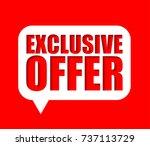 banner exclusive offer | Shutterstock .eps vector #737113729