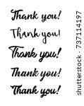 thank you postcard. hand drawn... | Shutterstock .eps vector #737114197