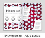 abstract vector layout... | Shutterstock .eps vector #737116531