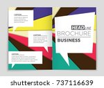 abstract vector layout... | Shutterstock .eps vector #737116639