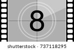 a classic movie countdown frame ... | Shutterstock .eps vector #737118295