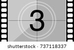 a classic movie countdown frame ... | Shutterstock .eps vector #737118337