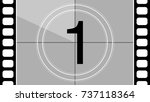 a classic movie countdown frame ...   Shutterstock .eps vector #737118364