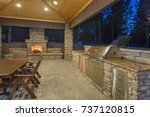 outdoor living space and patio | Shutterstock . vector #737120815