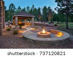 outdoor living space and patio | Shutterstock . vector #737120821