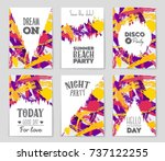 abstract vector layout... | Shutterstock .eps vector #737122255