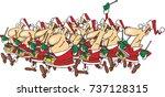 cartoon twelve drummers...   Shutterstock .eps vector #737128315