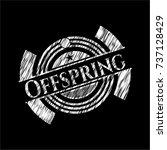 offspring chalkboard emblem... | Shutterstock .eps vector #737128429