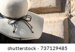 straw hat | Shutterstock . vector #737129485