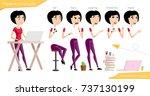 freelance employee female woman ...   Shutterstock .eps vector #737130199