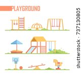set of playground elements  ... | Shutterstock .eps vector #737130805