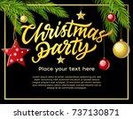 christmas party   modern vector ... | Shutterstock .eps vector #737130871