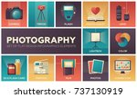 photography   set of flat... | Shutterstock .eps vector #737130919