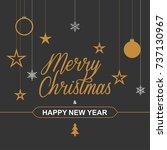 christmas background for...   Shutterstock .eps vector #737130967
