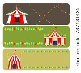 circus show entertainment tent... | Shutterstock .eps vector #737131435