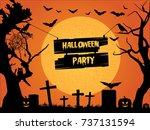 halloween party. halloween...   Shutterstock .eps vector #737131594