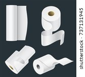 realistic paper roll mock up... | Shutterstock .eps vector #737131945