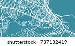 detailed vector map of port... | Shutterstock .eps vector #737132419
