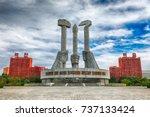 pyongyang north korea october... | Shutterstock . vector #737133424
