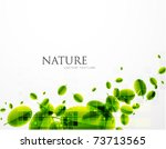 leaves vector abstract... | Shutterstock .eps vector #73713565