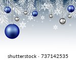 christmas and new year... | Shutterstock .eps vector #737142535