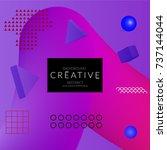 minimal universal banner... | Shutterstock .eps vector #737144044