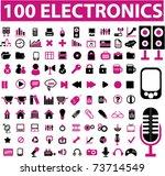 100 glamor electronics icons ... | Shutterstock .eps vector #73714549
