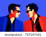 rivalry concept. secret agents  ... | Shutterstock .eps vector #737147101