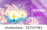 diwali sale  festival offer... | Shutterstock .eps vector #737147581