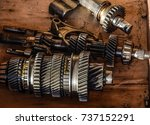dismantled box car... | Shutterstock . vector #737152291