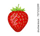 strawberry 3d vector icon ... | Shutterstock .eps vector #737152399