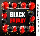 trendy black friday banner with ... | Shutterstock .eps vector #737152981