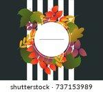 template design discount banner ... | Shutterstock .eps vector #737153989