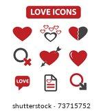 love icons  vector   Shutterstock .eps vector #73715752
