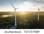 Wind Turbine In The Sunset See...