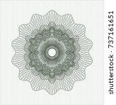 green money style rosette | Shutterstock .eps vector #737161651