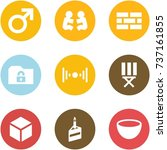 origami corner style icon set   ... | Shutterstock .eps vector #737161855