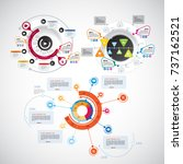 infographics templates | Shutterstock .eps vector #737162521