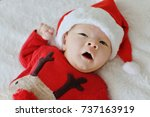 newborn baby is  ready for the... | Shutterstock . vector #737163919