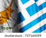 Two Flags. Diagonal. Cyprus ...