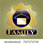 gold badge or emblem with... | Shutterstock .eps vector #737171719
