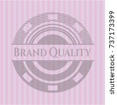 brand quality badge with pink... | Shutterstock .eps vector #737173399