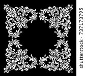 damask white and black ornament.... | Shutterstock .eps vector #737173795