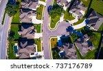 straight down view cul de sac... | Shutterstock . vector #737176789